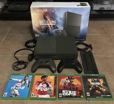$177.50 • Buy Xbox One S Battlefield 1: Military Green Special Edition Bundle 1 TB *EXTRAS*