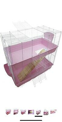 Large Indoor Double Decker Rabbit Guinea Pig Cage Hutch Run 100 Collection Only • 47.50£