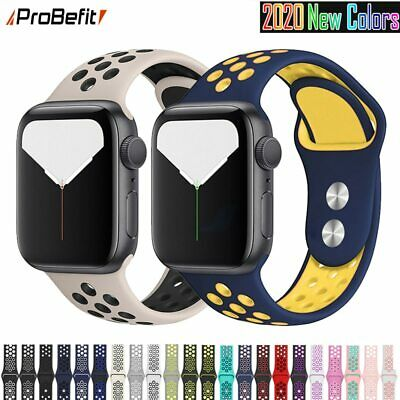 $ CDN4.44 • Buy Silicone Sports Band For Apple Watch Series  5 4 3 2 1And Width 44 42 40 38mm