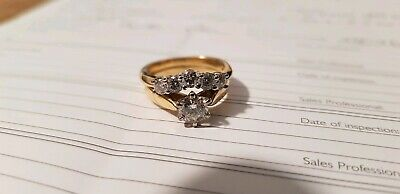 AU3000 • Buy 18ct Yellow Gold And 0.95ct Diamonds Ring Set