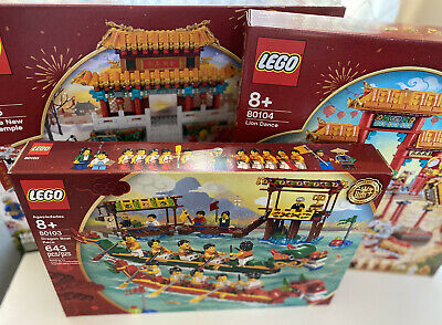 $349.99 • Buy Lego Chinese New Year 80103+80104+80105 Lot Brand New! Lion Dance Free Shipping!