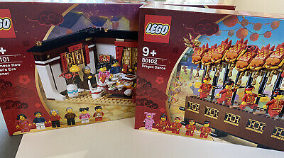 $499.99 • Buy Lego Chinese New Year 80101+80102 Brand New Free Shipping!! Hard To Find