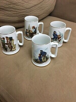 $ CDN45.78 • Buy Norman Rockwell Museum Nautical Mugs - Vintage 1985 Steins Cups Tankards Lot Of