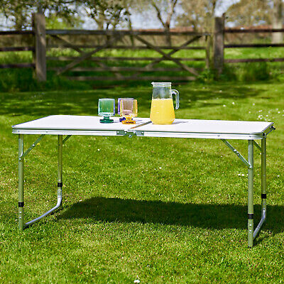 £29.95 • Buy 4ft Heavy Duty Folding Table Portable Plastic Camping Garden Party Catering New