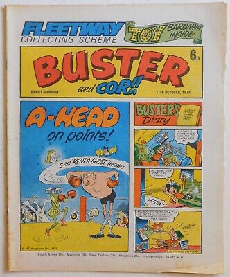 BUSTER & COR Comic - 11th October 1975 • 2.99£