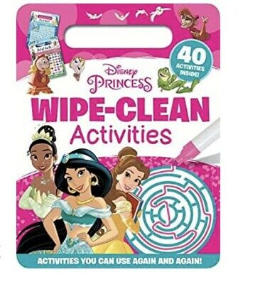 Disney Princess Kids Wipe Clean Activity Book NEW Pen Included! • 6.99£
