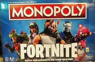$5.99 • Buy NEW Hasbro Monopoly FORTNITE EDITION Board Game E6603 Property Trading The Storm