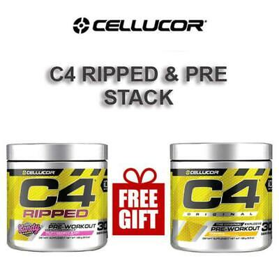 AU91.45 • Buy C4 Ripped And Pre Workout Stack