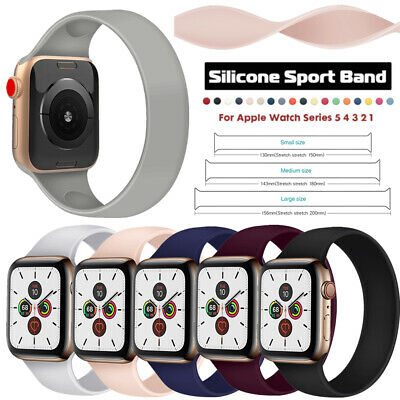 $ CDN10.18 • Buy Pure Color Universal Silicone Watch Band Strap For Apple Watch Series 1 2 3 4 5