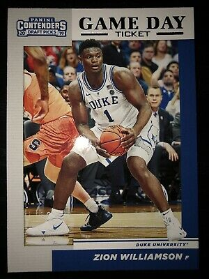 $3.99 • Buy 2019 Contenders Draft Picks Zion Williamson Game Day Ticket Insert No. 1