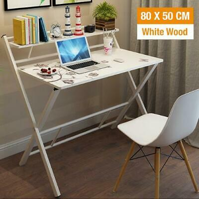 AU149 • Buy Office Computer Desk Wooden Home Furniture Folding Side Table Storage Shelf Rack