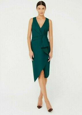AU50 • Buy SHEIKE | Park Avenue Dress | Size 6 | NEW | RRP$189 | Forrest Green Party Sexy