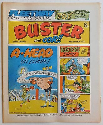 BUSTER And COR Comic - 11th October 1975 • 2.99£