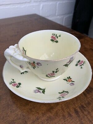 Crown Staffordshire Floral Cup & Saucer • 4.75£
