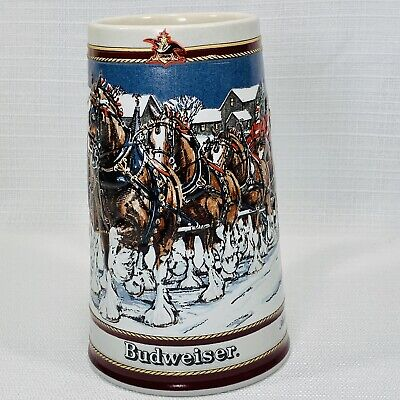 $ CDN12.48 • Buy Vintage 1989 Budweiser Clydesdale Holiday Beer Stein Collector's Mug