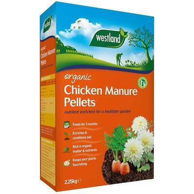 Westland Organic Chicken Manure Pellets Slow Release Enriched Compost Feed2.25kg • 8£