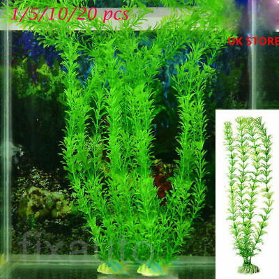 Aquarium Fish Tank Plastic Artificial Green Grass Aquatic Plants For Decor Bro • 1.89£