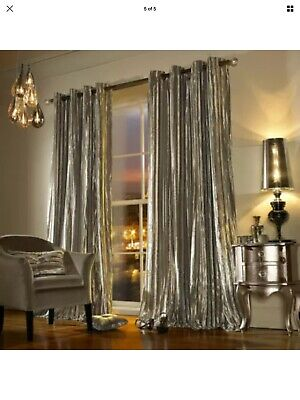Kylie Minogue Iliana Praline 90 X 90inch Eyelet Ring Top Lined Curtains, Pair • 120£