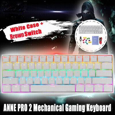 AU124.99 • Buy Anne Pro 2 RGB Bluetooth LE4.0 Mechanical Gaming Keyboard PBT Keycap USB Wired