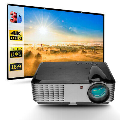 AU519 • Buy AU 5000Lumens LED 4K Movie Video Projector FULL HD HDMI USB Home Theater Outdoor