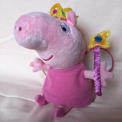 Peppa Pig Fairy Princess Small Plushie Toy Cuddly Toy With Crown Wings And Wand • 4.99£