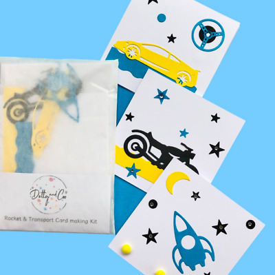 Children's Card Making Kit*Craft Kit*Card Making Kit*Moon/Transport/Car Cards   • 2.99£