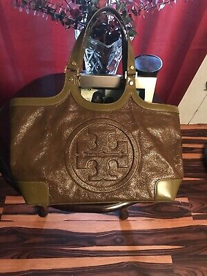 $15.50 • Buy Tory Burch Olive Green Patent Leather Handbag Excellent Condition Gorgeous Color