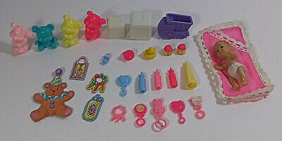 $ CDN26.41 • Buy Vintage Barbie Baby Accessories Lot 28 Mattel Miniature Diorama Toys Bottles