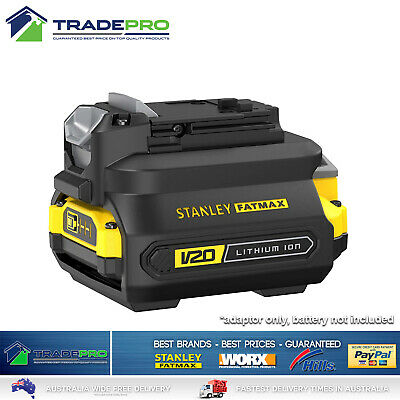 AU38 • Buy Stanley® Fatmax 18V V20 Battery Adaptor For Old Tools To New Batteries