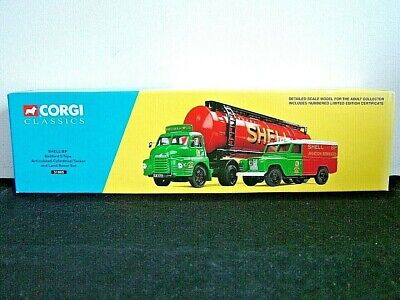 Corgi 31005 - Shell / Bp Set - Bedford S Tanker And Land Rover - Limited Edition • 22£