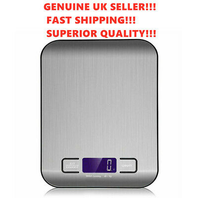 £8.49 • Buy Digital Kitchen Scales 5kg Electronic LCD Display Balance Scale Food Weight Bowl
