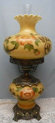 $ CDN126.86 • Buy Vintage GWTW Table Lamp Antiqued With Flowers