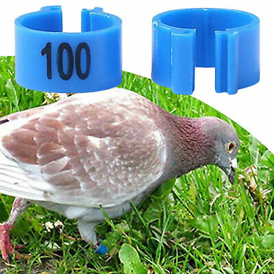 100pcs Bird Rings Leg Bands For Pigeon Parrot Poultry Clip Rings Number 1-100 • 3.78£