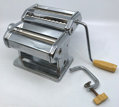 $35 • Buy Vintage Marcato Atlas 150 Mm Deluxe Pasta Maker Made In Italy With Handle GUC
