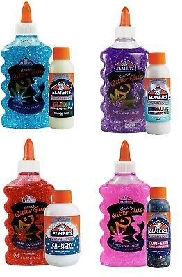 AU10.24 • Buy Elmer's Glitter Glue With Magical SLIME Activator Bundle - Select Color/Type