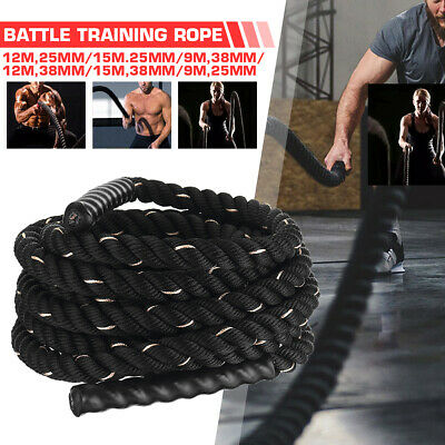 AU57.23 • Buy 9M/12M 38mm Home Gym Battle Rope Battling Strength Training Exercise Bootcamp
