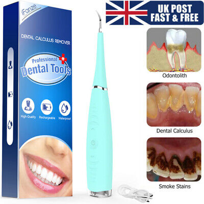 Electric Sonic Dental Scaler Tartar Calculus Plaque Remover Teeth Stains Cleaner • 8.29£