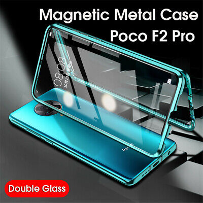 AU11.78 • Buy Luxury Magnetic Metal Bumper Back+Front Glass Case Cover For Xiaomi Poco F2 Pro