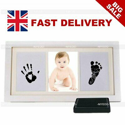 £12.89 • Buy Baby Hand & Foot Print Clay Cast Kit 1 Photo Picture Frame Christening Gift