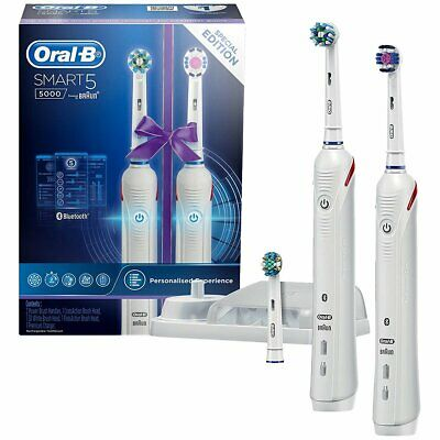 AU227.99 • Buy Oral B Smart 5000 Dual Handle Electric Toothbrush