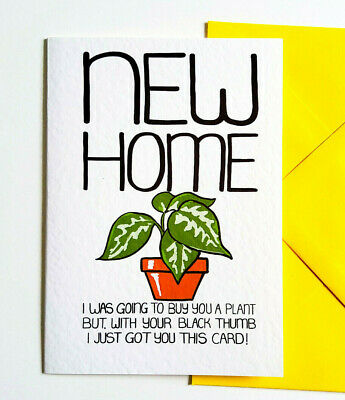 NEW HOME Card Funny House Warming Card For Family, Friends, New Neighbours • 2.99£