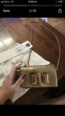 AU700 • Buy Christian Louboutin Gold Purse/bag Unwanted Gift