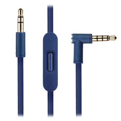 Blue Audio Cable For Beats By Dr Dre Studio 2.0 Headphones W Remote Microphone • 8.95£