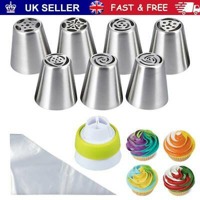 18 Pcs Russian Flower Stainless Steel Icing Piping Nozzles Cake Baking Tools UK • 7.98£