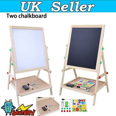 Kid Art Play Double Sided Easel Chalkboard 2 In1 Writing Drawing Painting Board • 10.89£