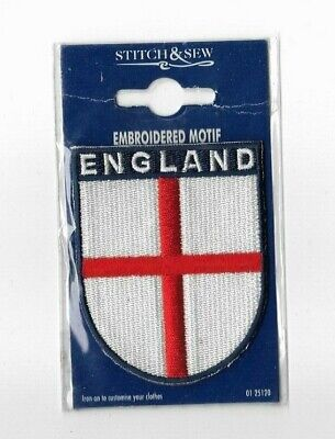 England Shield Flag Sew On Embroidered Motif Patch Unused • 2.99£