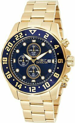 £57.51 • Buy Invicta Men's $795 Specialty Gold Swiss Chronograph Blue Dial Date Watch 15942