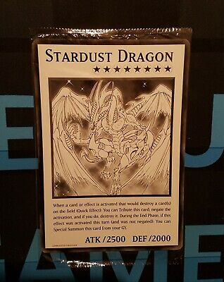 Stardust Dragon - Oversized Card - DUOV - Jumbo Giant - YuGiOh • 1.80£