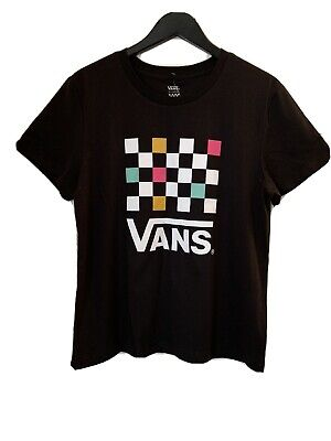 £24.85 • Buy Vans Party Checkerboard Black Womens T Shirt Size Uk Xs Bntw