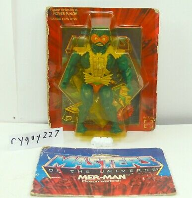 $950 • Buy MOTU, Mer-Man, 8-back, Masters Of The Universe, MOC, Sealed Figure, Green Belt